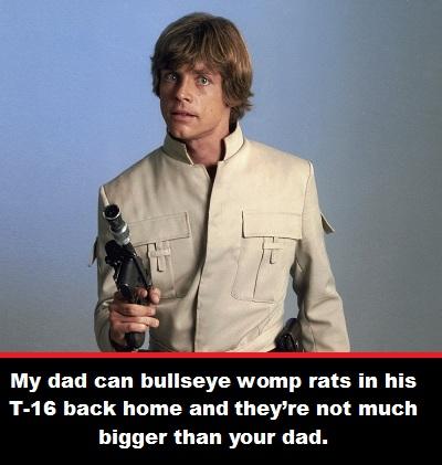 Dad Luke Skywalker. Star Wars