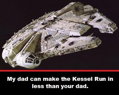 Dad Millenium Falcon