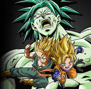 Trunks and Goten vs Broly