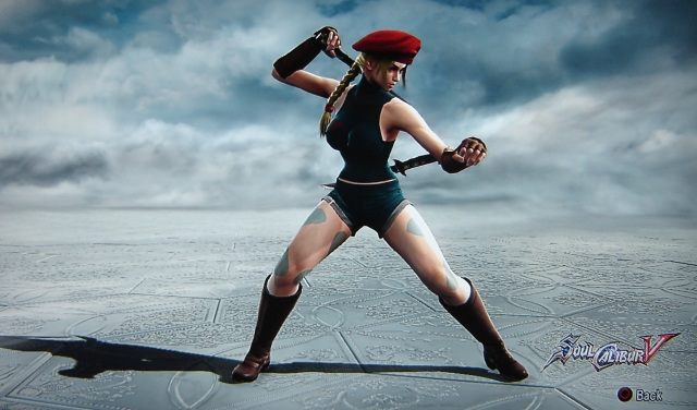 Cammy. Street Fighter. Made using Creation mode in Soul Calibur 5. benjaminfrog.com