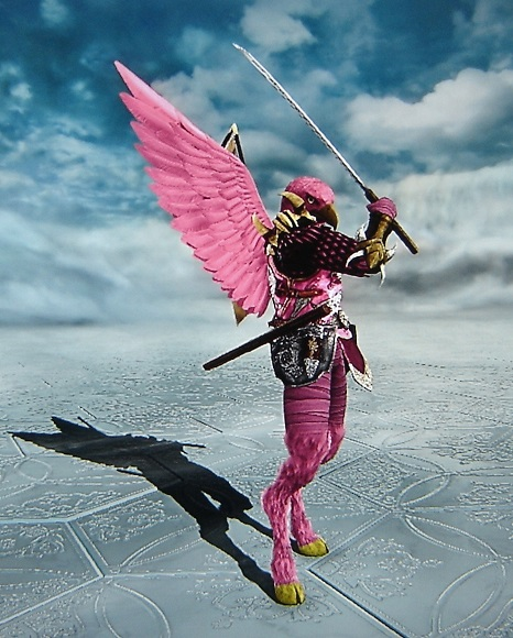 Flamingo Samurai. Made using Creation mode in Soul Calibur 5. benjaminfrog.com