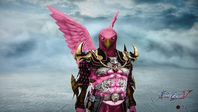 Flamingo Samurai. Made using Creation mode in Soul Calibur 5. benjaminfrog.com
