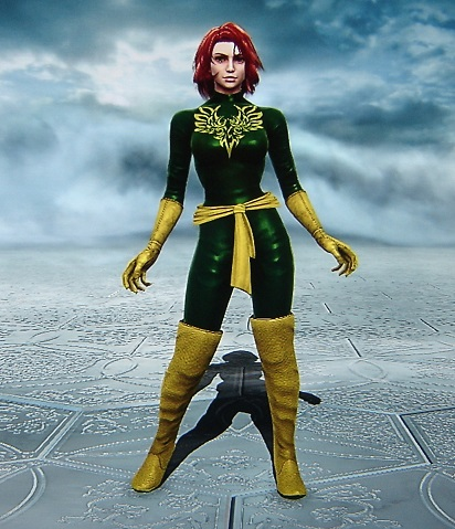 Jean Grey. Phoenix. X-Men. Made using Creation mode in Soul Calibur 5. benjaminfrog.com