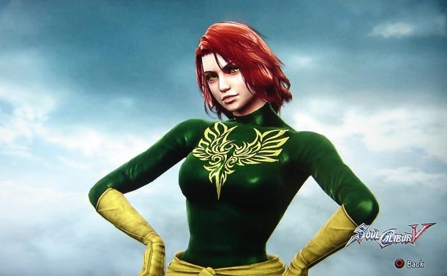 Jean Grey. Phoenix. X-Men. Made using Creation mode in Soul Calibur 5. benjaminfrog.com