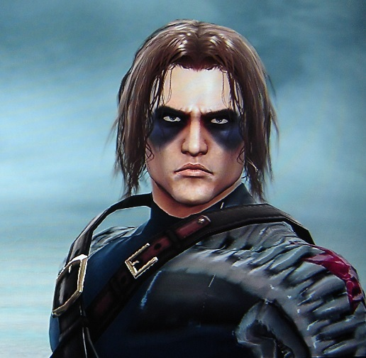 The Winter Soldier. Captain America. Made using Creation mode in Soul Calibur 5. benjaminfrog.com