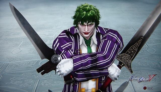 The Joker. Batman. Made using Creation mode in Soul Calibur 5. benjaminfrog.com