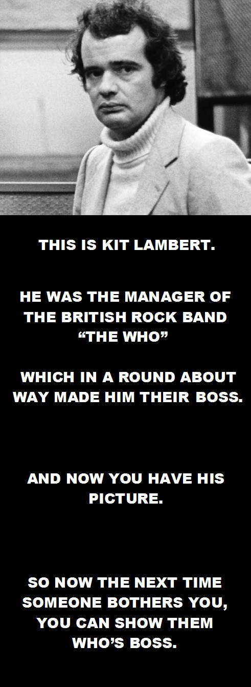 Kit Lambert. The Who