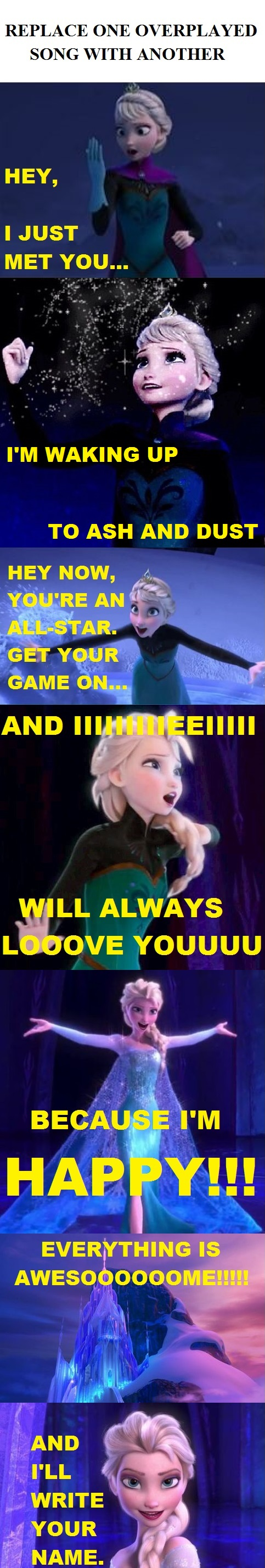 Frozen. Elsa. Not Let It Go.