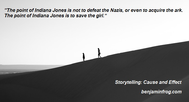 Storytelling. Cause and Effect. Writing Heroes. Indiana Jones. benjaminfrog.com