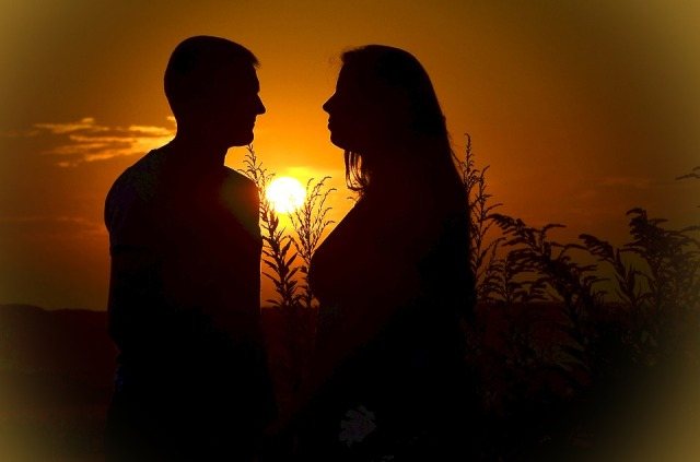 Couple. Sunset