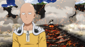 Saitama vs. Genos. One Punch Man