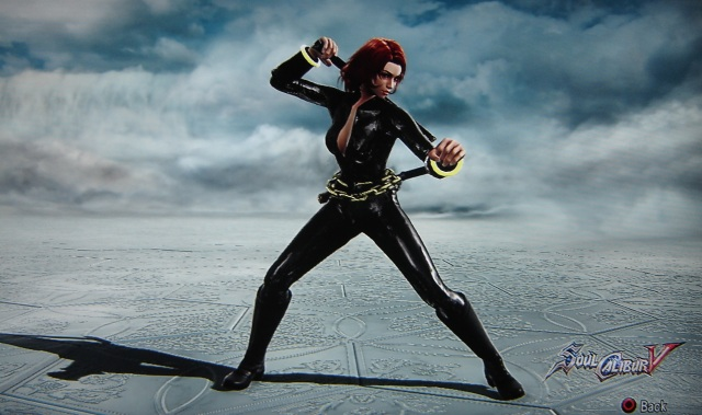 Black Widow from Marvel. Made using Creation mode in Soul Calibur 5. benjaminfrog.com