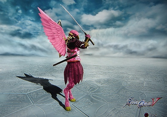 Flamingo. Made using Creation mode in Soul Calibur 5. benjaminfrog.com