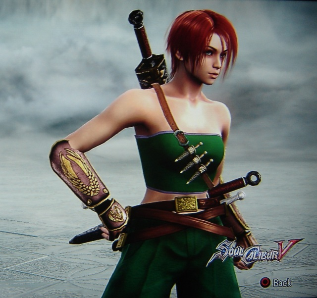 Red from Crimson Dawn. Made using Creation mode in Soul Calibur 5. benjaminfrog.com