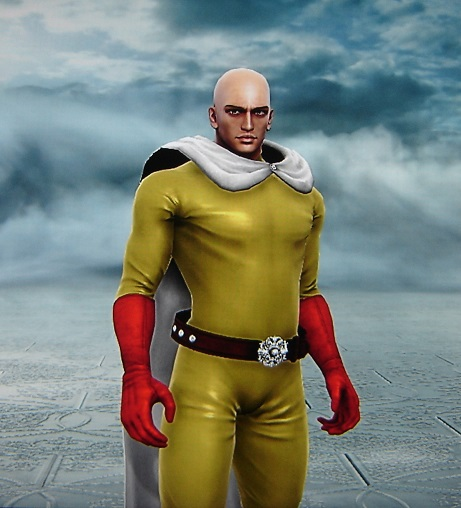 Saitama from One Punch Man. Made using Creation mode in Soul Calibur 5. benjaminfrog.com