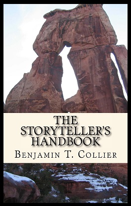 The Storyteller's Handbook by Benjamin T. Collier showing mountains and rock formation