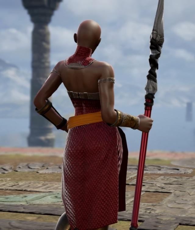 Okoye from Black Panther. Made using Creation mode in Soulcalibur 6. benjaminfrog.com