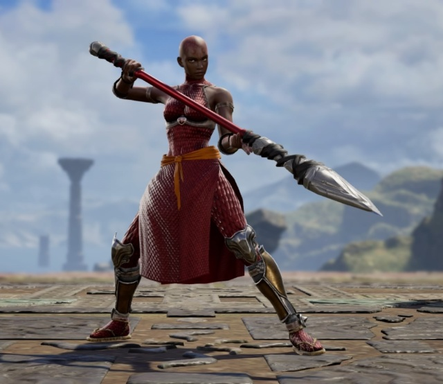 Okoye from Black Panther. Made using Creation mode in Soulcalibur 6. benjaminfrog.com
