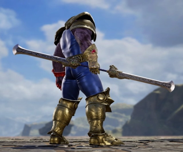 Thanos from Marvel Comics. Made using Creation mode in Soulcalibur 6. benjaminfrog.com