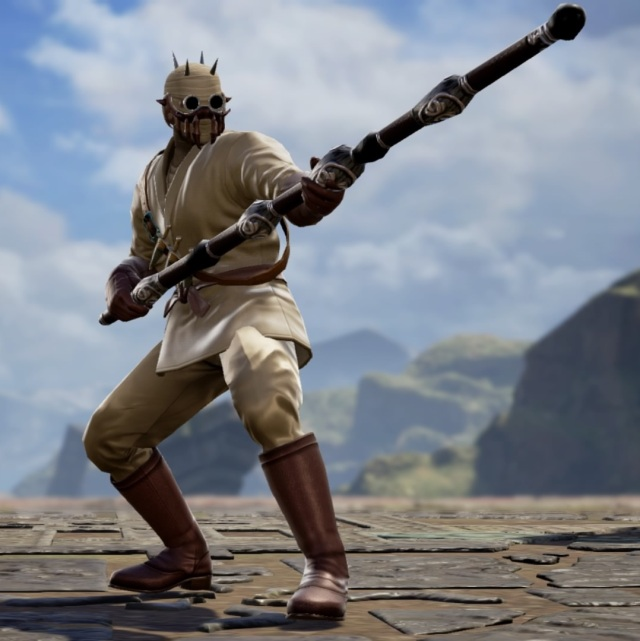 Tuskan Raider from Star Wars. Made using Creation mode in Soulcalibur 6. benjaminfrog.com