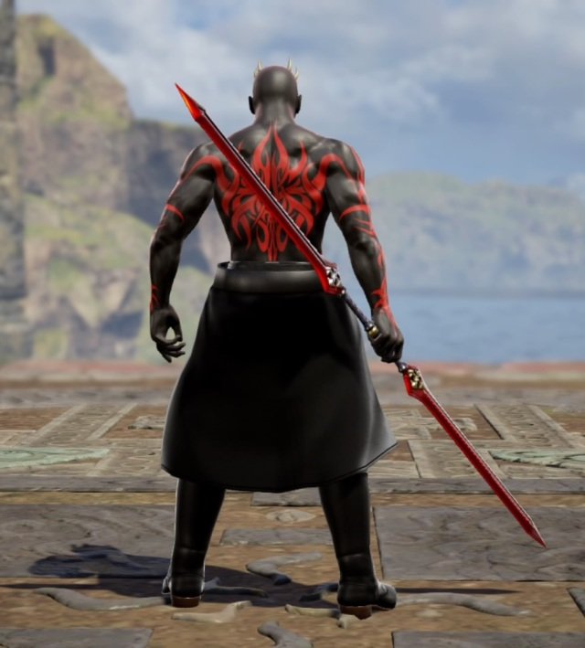 Darth Maul from Star Wars. Made using Creation mode in Soulcalibur 6. benjaminfrog.com