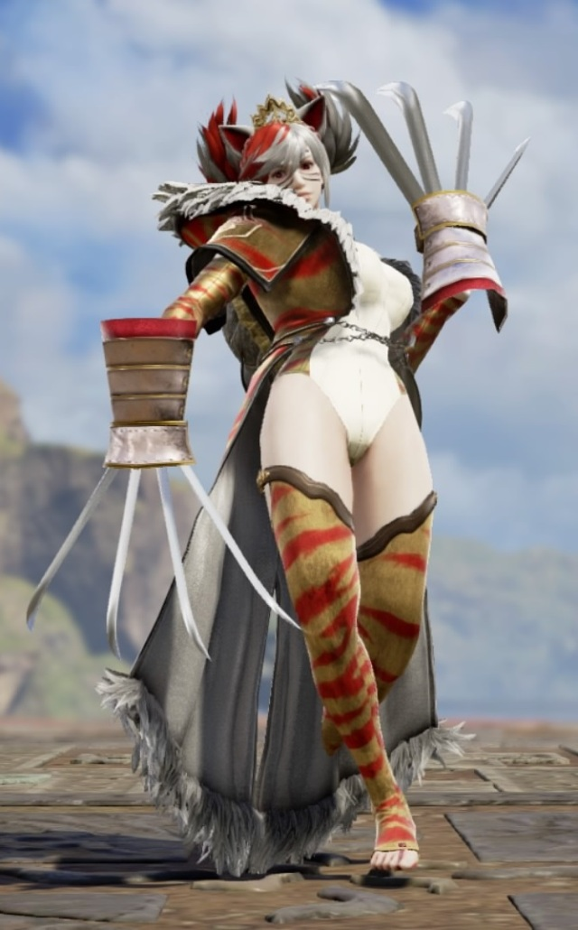 Meowsette. Made using Creation mode in Soulcalibur 6. benjaminfrog.